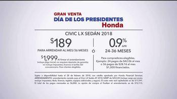 Honda Gran Venta Día de los Presidentes TV Spot, 'Celebra' [Spanish] [T2] - Thumbnail 9