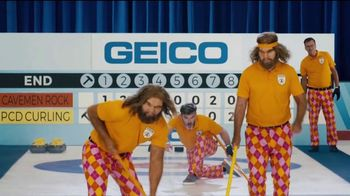 GEICO TV Spot, 'Cavemen Curling Competition' - 33 commercial airings