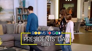 Rooms to Go Presidents' Day Sale TV Spot, 'Finance Interest Free' - Thumbnail 2