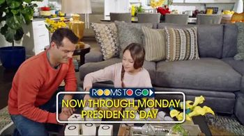 Rooms to Go Presidents' Day Sale TV Spot, 'Finance Interest Free' - Thumbnail 7