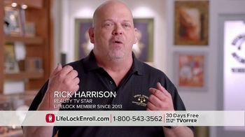 LifeLock TV Spot, 'Faces V6 REV1 - Harrison' Featuring Rick Harrison - Thumbnail 5