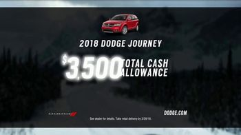 Dodge Presidents' Day Sales Event TV Spot, '2018 Journey' Feat. Vin Diesel [T2] - 877 commercial airings