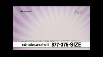 Nutrisystem Drop 18 TV Spot, 'Lose Up to 18 Pounds'