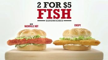 Arby's 2 for $5 Fish Sandwiches TV Spot, 'Fish Logo' - Thumbnail 3