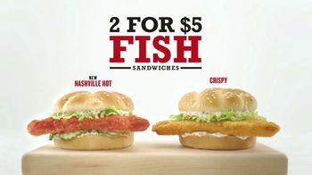 Arby's 2 for $5 Fish Sandwiches TV Spot, 'Fish Logo' - 1187 commercial airings