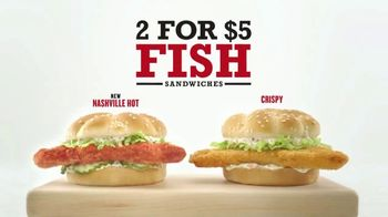 Arby's 2 for $5 Fish Sandwiches TV Spot, 'Fish Logo' - Thumbnail 7