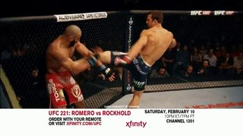 UFC 221 TV Spot, 'XFINITY: Romero vs. Rockhold' - 15 commercial airings