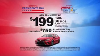 Toyota Drive to Victory Sales Event TV Spot, 'Presidents Day: 2018 Camry' [T2] - Thumbnail 5