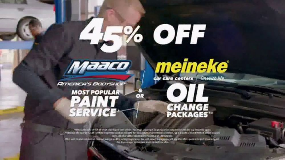 Maaco TV Commercial, '45th Anniversary: Paint Service and Oil Change'
