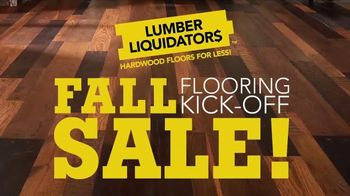 Lumber Liquidators Fall Flooring Kick-Off Sale TV Spot, 'Incredible Deals'