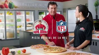 Papa John's XL 2-Topping Pizza TV Spot, 'Control de calidad' [Spanish] - Thumbnail 9
