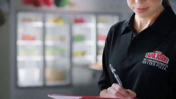 Papa John's XL 2-Topping Pizza TV Spot, 'Control de calidad' [Spanish] - Thumbnail 4
