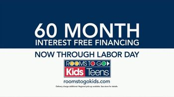Rooms to Go Kids & Teens TV Commercial, 'Labor Day Deal ...
