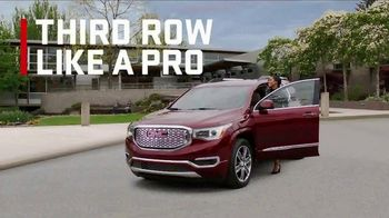 2017 GMC Acadia SLE-1 TV Spot, 'Third Row Like a Pro' - Thumbnail 4