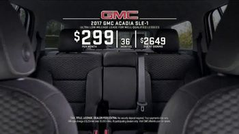 2017 GMC Acadia SLE-1 TV Spot, 'Third Row Like a Pro' - Thumbnail 6