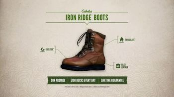 Cabela's Iron Ridge Boots TV Spot, 'Hunting Cabin' - Thumbnail 5