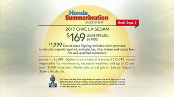 Honda Summerbration Sales Event TV Spot, 'Ice Cream: 2017 Civic LX' [T2] - Thumbnail 8