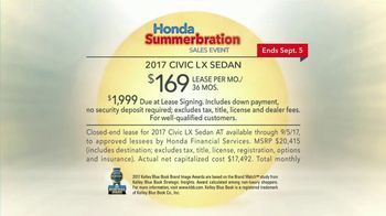 Honda Summerbration Sales Event TV Spot, 'Ice Cream: 2017 Civic LX' [T2] - Thumbnail 7
