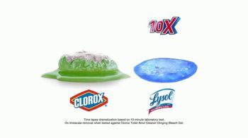 Lysol Power Toilet Bowl Cleaner TV Spot, 'More Cleaning Power Protection' - Thumbnail 5