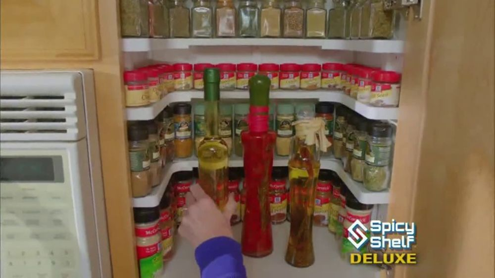 Spicy Shelf Deluxe TV Commercial u0027Stackable Kitchen Organizer Spice Racku0027 - iSpot.tv & Spicy Shelf Deluxe TV Commercial u0027Stackable Kitchen Organizer Spice ...