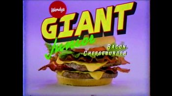 Wendy's Giant Jr. Bacon Cheeseburger TV Spot, 'G-G-G-GIANT JUNIOR!' - Thumbnail 3