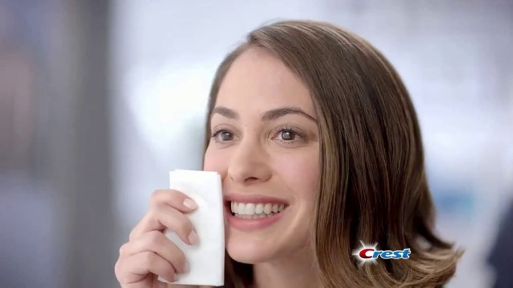 Redhead in crest whitestrips commercial