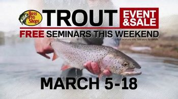 Bass Pro Shops Trout Event & Sale TV Spot, 'Seminars and Micro Spins' - Thumbnail 4