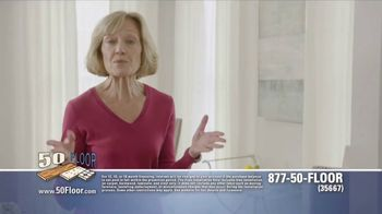 50 Floor Free Installation Sale TV Spot, 'Didn't Have to Lift a Finger' - 3 commercial airings