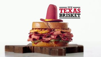 Arby's Texas Brisket TV Spot, ' Sandwich Legends: Texas Brisket' - 1221 commercial airings