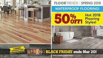 Lumber Liquidators Spring Black Friday Flooring Sale TV Spot, '2018 Styles'