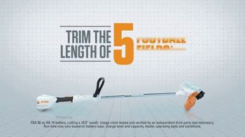 STIHL Lightning Battery System TV Spot, 'On a Single Charge' - Thumbnail 8