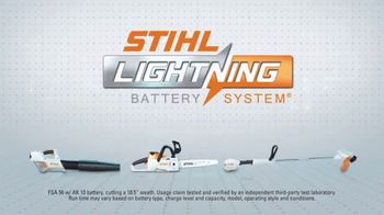 STIHL Lightning Battery System TV Spot, 'On a Single Charge' - Thumbnail 9