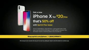 Sprint TV Spot, 'Meet the Sprintern: iPhone X for $20' - Thumbnail 9
