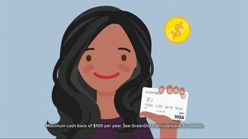 Green Dot 5 Percent Cash Back Visa Debit Card TV Spot, 'Get Smart' - Thumbnail 1