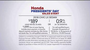Honda Presidents' Day Sales Event TV Spot, 'Celebrating All Across America' [T2] - Thumbnail 7