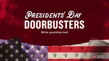 Value City Furniture Presidents' Day Sale TV Spot, 'Doorbusters'