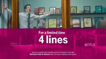 T-Mobile 4 Lines + Netflix TV Spot, 'Binge Watching' - Thumbnail 8