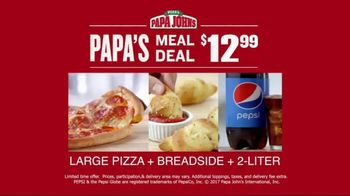 Papa John's Meal Deal TV Spot, 'Large Pizza + Breadside + 2-Liter' - Thumbnail 6