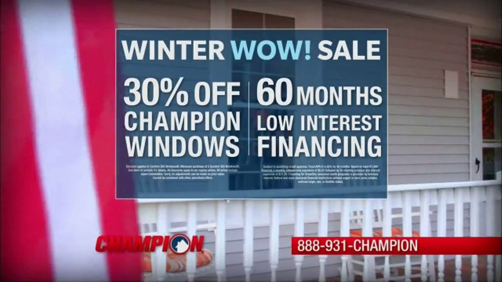 06a6af7013c8b6 Champion Windows Winter Wow! Sale TV Commercial