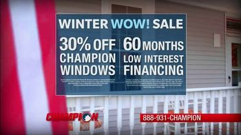 Champion Windows Winter Wow! Sale TV Spot, 'Christina' - Thumbnail 6