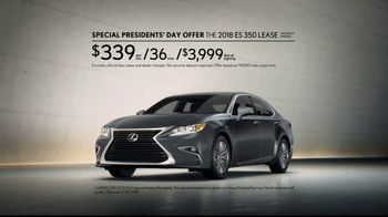 Lexus Special Presidents' Day Offer TV Spot, '2018 ES: Safety' [T2] - Thumbnail 7