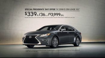 Lexus Special Presidents' Day Offer TV Spot, '2018 ES: Safety' [T2] - Thumbnail 8