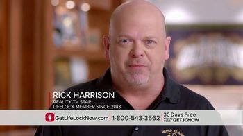 LifeLock TV Spot, 'Infomercial V3.1 Rev2 - CTA1' Featuring Rick Harrison - Thumbnail 6