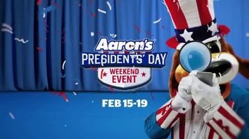 Aaron's Presidents' Day Weekend Event TV Spot, 'Daily Mystery Offer'