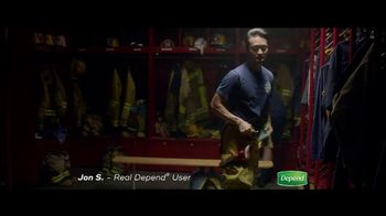 Depend Real Fit Briefs TV Spot, 'How Jon Keeps Saving the Day'