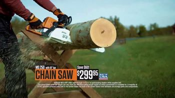 STIHL TV Spot, 'Real People: MS 250 Chain Saw and BR 200 Backpack Blower' - Thumbnail 6