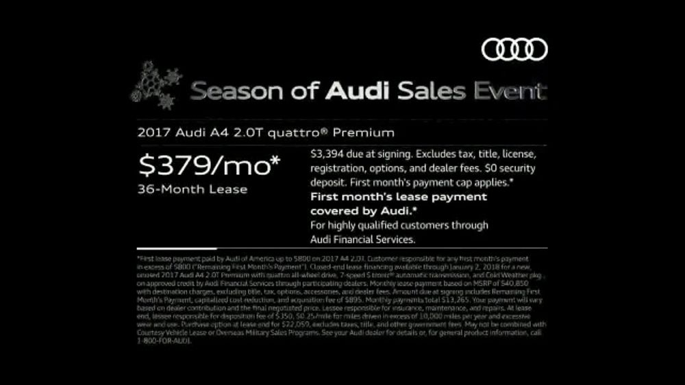 Audi Season Of Audi Sales Event Tv Commercial Holiday 2017 A4 Ispot Tv