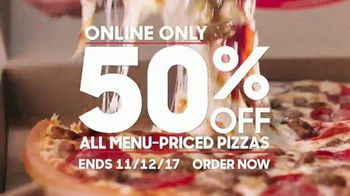 Pizza Hut TV Spot, '50% Off Menu-Priced Pizzas: November'