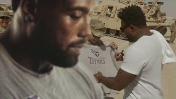 NFL TV Spot, '2017 Salute to Service: Truest Hero' Featuring Delanie Walker - Thumbnail 8