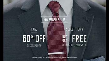 Men's Wearhouse TV Spot, 'Designer Suit Deals' - 1635 commercial airings